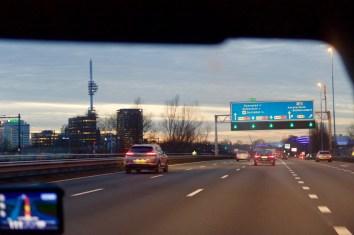 Blue Hour Amsterdam Highway