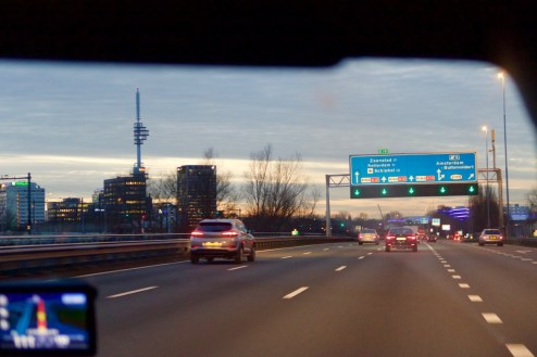 Blue Hour Amsterdam Highway
