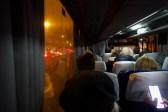 Kiew - im Skybus 322 von Borispol zur Metrostation Kharkivska (Харківська)