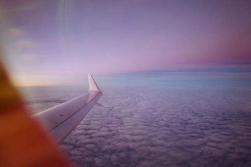 LH 1664 - Sonnenuntergang unterwegs von München nach Rumänien