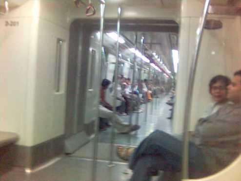 People traveling with Delhi Metro
