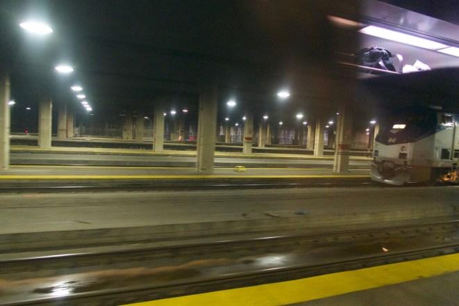 Chicago Union Station bei der Abfahrt mit dem 'LINCOLN SERVICE'