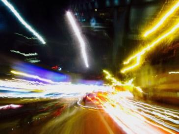 Nachtfahrt durch London-Oben auf dem Bus