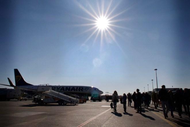 TSF - Aussteigen in Treviso Airport A. Canova
