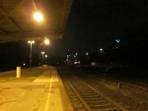 Köln - alter Bahnhof bei Nacht