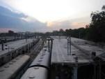 Hyderabad, Indien - Abends am Bahnhof