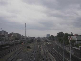 Wien, Österreich - Blick über die Gleise