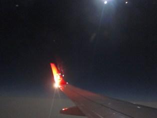 Nachtflug bei Vollmond nach Istanbul
