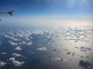 Über dem ägäischen Meer in Griechenland