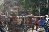 New Delhi, bei der Roten Moschee - Verkehrsgewusel mit Rikscha