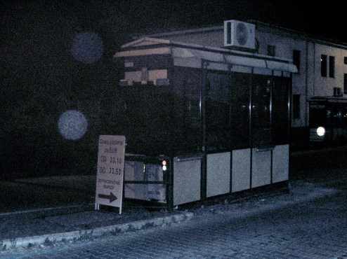 Ein altes Zollhäusschen an der Grenze in die Slowakei