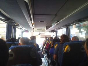 Unterwegs im Fernbus in Spanien