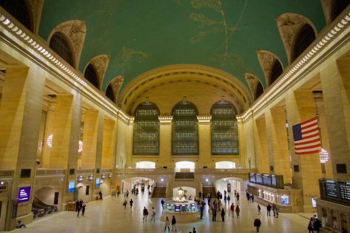 New York - Grand Central Terminal mit schöner grüner Decke