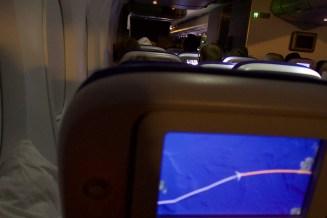 LH 401 - Nachtflug über den Atlantik von New York nach Frankfurt