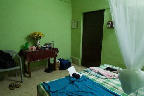 Benaulim - Gästezimmer im Ort, ohne Fenster und ohne Balkon, wirklich nur ein Ort zum schlafen.