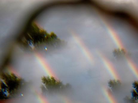 Experimentell durch ein Prisma fotografiert