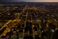 Die leuchtenden Straßen von Chicago