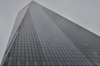 Extreme Perspektive, wenn man den Freedom Tower in New York nach oben schaut