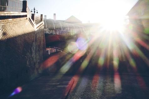 Ein lichter Moment unter der Lügenbrücke