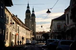 Abendlicht mit der orthodoxen Dreifaltigkeit Kathedrale