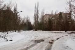 Viele Wohnblocks und lange Straßen waren einmal Heim für fast 50000 Menschen