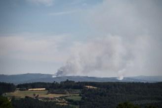 Waldbrände am Horizont in Spanien