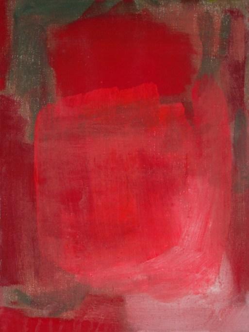 Rot: 1. Bild aus der Tempera Serie zu Rot, Gelb und Blau, 30x40 cm