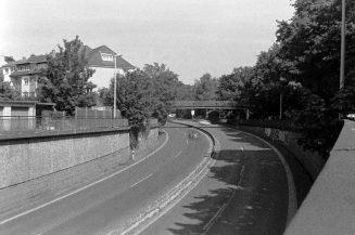 Bonner Stadtautobahn mit ORWO TC 27 Verkehrsüberwachungsfilm