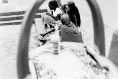 Kleine Pause am Trinkwasserbrunnen