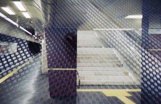 Doppelbelichtung U-Bahn Bonn - Marmortreppe