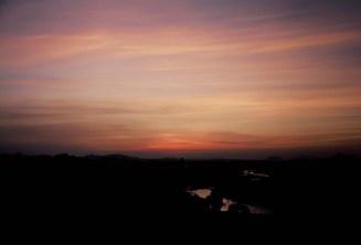 Letztes Abendlicht nach dem Sonnenuntergang