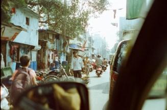 Umterwegs im Taxi in Mumbai