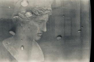 Water drops - Doppelt entwickeltes Fotoexperiment in Paris - antiker Kopf