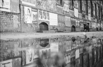 Schwarzweiße Wände und Spiegelungen - Berlin - 2