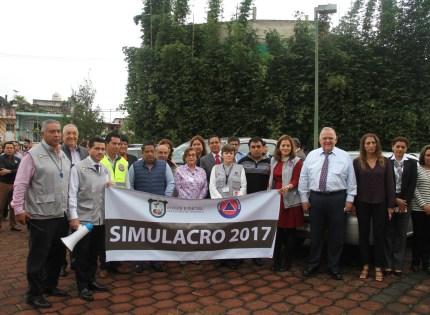 Participan 1609 personas en simulacro del Tribunal Superior de Justicia de Veracruz