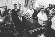 El Gobernador MAYL, en sepelio del Mtro. Callejas