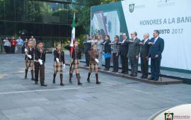 El Poder Judicial del Estado de Veracruz rinde Honores a la Bandera