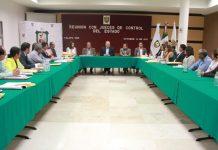Encabeza sesión de trabajo con Jueces de Control el Magistrado Presidente , Edel Álvarez
