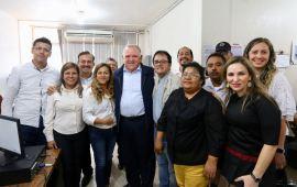 El Magistrado Presidente del TSJVer, Edel Álvarez, realiza visita de trabajo en Martínez de la Torre
