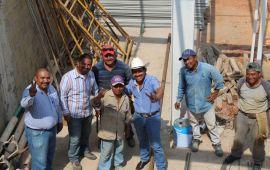 TRONCO compartió el pan y la sal con los trabajdores de la construcción