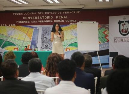 Sensacional, implementación del Sistema de Justicia Penal en Veracruz: Verónica Román