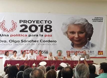 Acompaña el candidato a Diputado Federal Xalapa-Urbano, Hernández Villalpando a la exministra Dra. Olga Sánchez