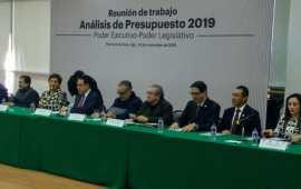 Reunión de trabajo para analizar presupuesto 2019 de Hidalgo
