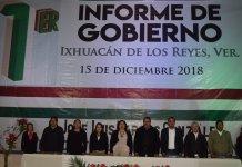 Rinde el Alcalde de Ixhuacan José Luis Vargas, su primer informe de gobierno