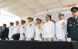 Cuitláhuac García, Reconoce y Respalda trabajo de la Fuerza Naval del Golfo enVeracruz