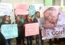"Pacífica manifestación a favor de Manuel ""N"""