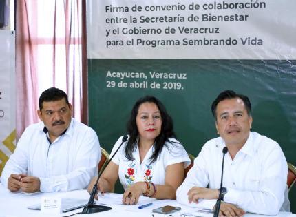 Firman Veracruz y Bienestar convenio que generará más de 60 mil empleos