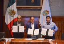 Cuitláhuac atestiguó la firma del convenio de colaboración con CONEVAL que establece las Zonas de Atención Prioritaria