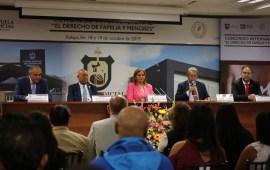 Clausuran Congreso Internacional sobre Derecho de familia y menores en el Poder Judicial del Estado