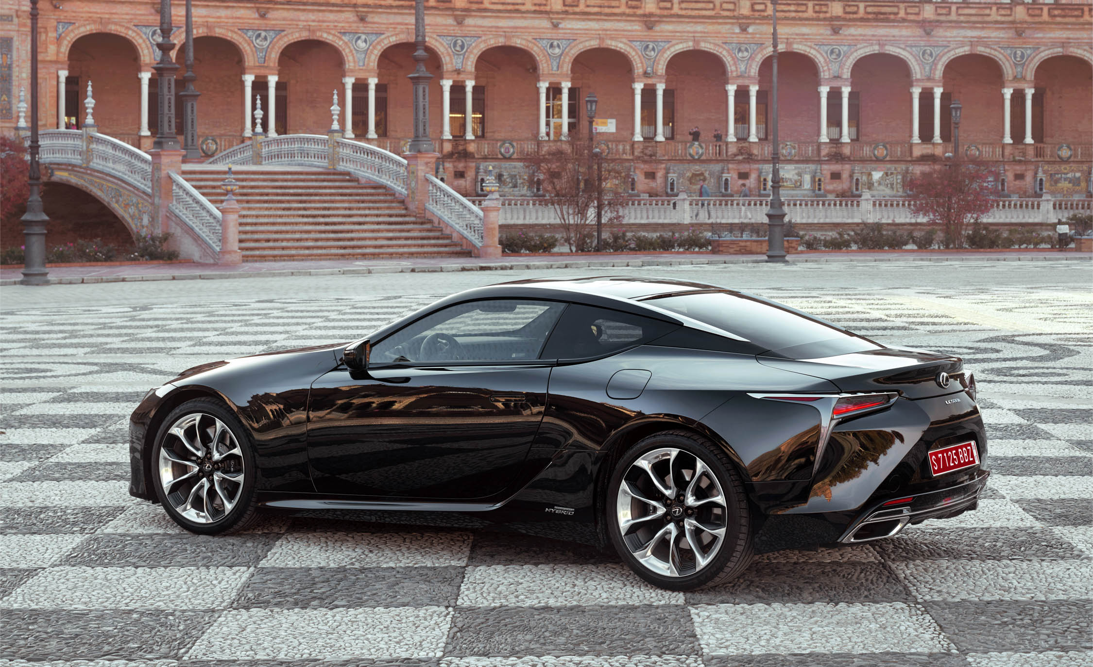 2018 Lexus Lc 500h Black Exterior Side And Rear Gallery 55